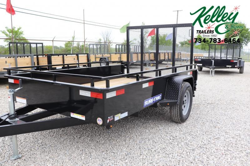 2021 Sure-Trac 6X10 Steel High Side Utility Trailer