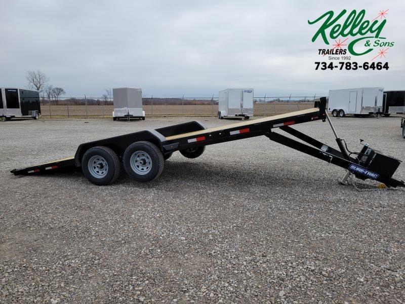2021 Sure-Trac 7x20 10K Hydraulic Tilt Wood Deck Car Hauler