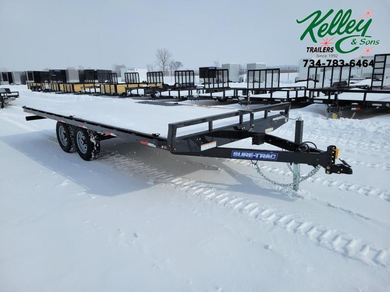 2021 Sure-Trac 8.5x18 10K Flat Deck Deckover Equipment Trailer