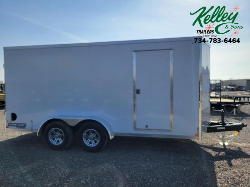 2021 Sure-Trac 7x16 10K Pro Series Wedge Enclosed Cargo Trailer w/Double Doors
