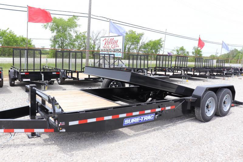 2021 Sure-Trac 7x18+4 16K Tilt Bed Equipment Trailer