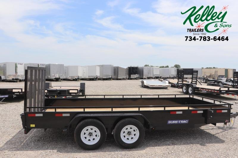 2021 Sure-Trac 7x16 7K Steel High Side Utility Trailer