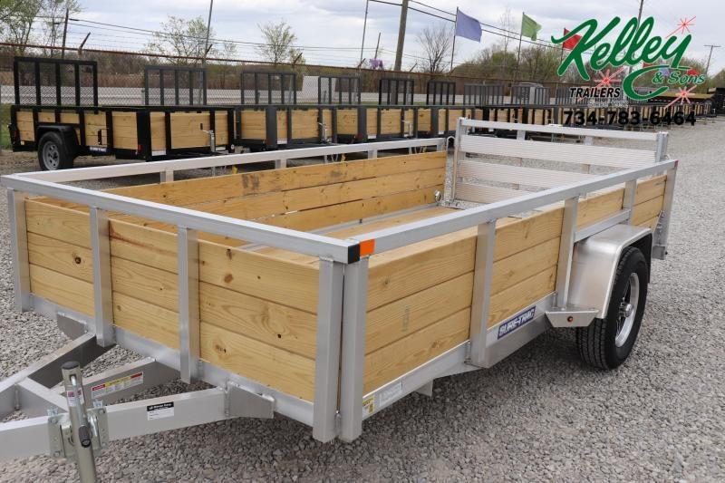 2021 Sure-Trac 6x12 Aluminum Tube Top 3-Board Utility Trailer