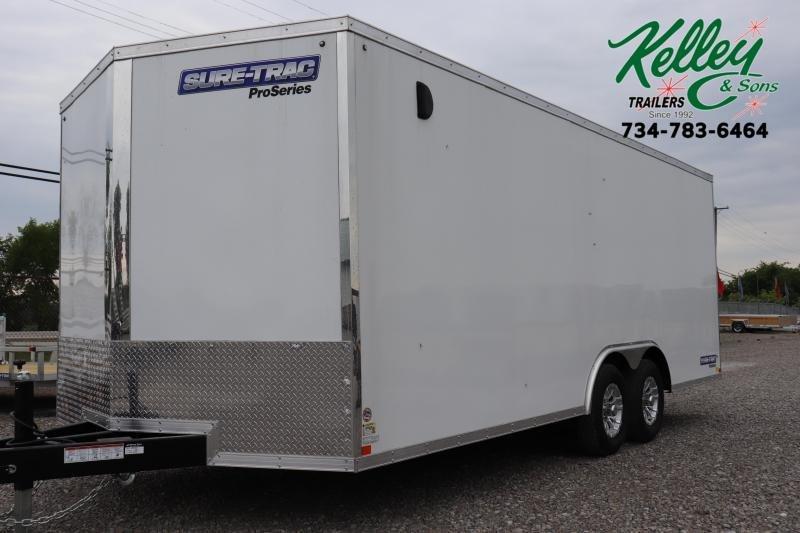 2020 Sure-Trac 8.5x20 10K Wedge Car Hauler Enclosed Cargo Trailer