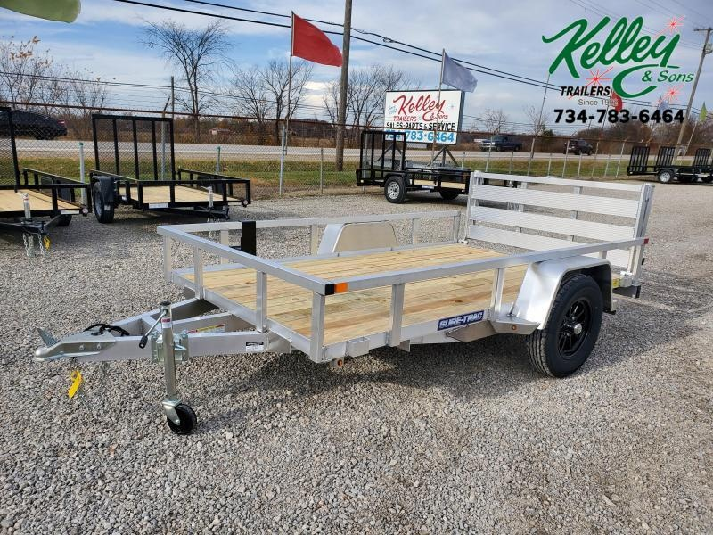 2021 Sure-Trac 6x10 Aluminum Tube Top Utility Trailer