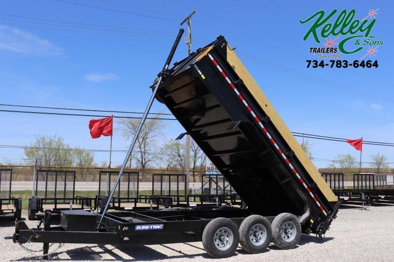 2020 Sure-Trac 82INx16 21K Low Pro Telescopic Bumper Pull Dump Trailer