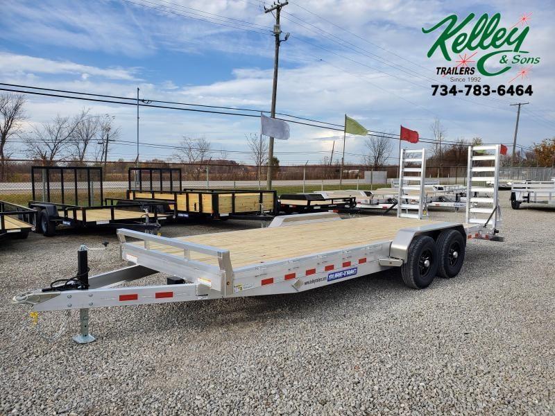 2021 Sure-Trac 7x20 (18+2) 10K Aluminum Equipment Trailer