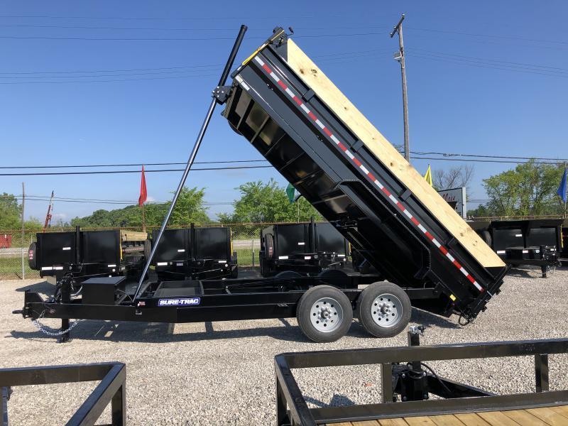 2021 Sure-Trac 82x16 16K Low Pro Telescopic Dump Trailer