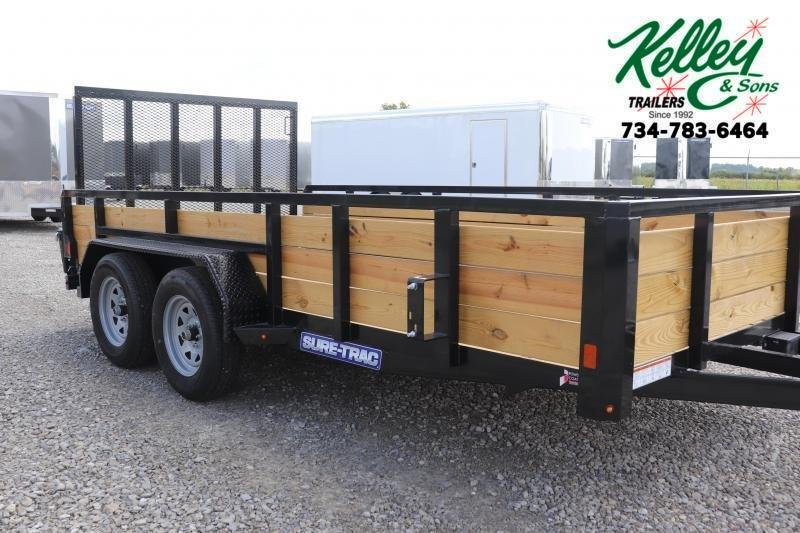 2021 Sure-Trac 7x14 7K 3-Board Tandem Axle Utility Trailer