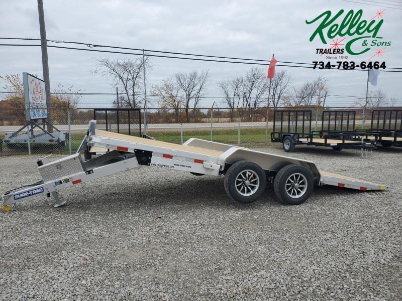 2021 Sure-Trac 7x18 7K Wood Deck Aluminum Tilt Car Hauler (Electric/Hydraulic)