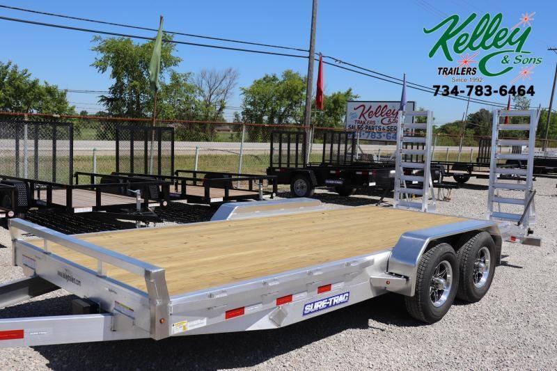2021 Sure-Trac 7x18 10K Aluminum Equipment Trailer