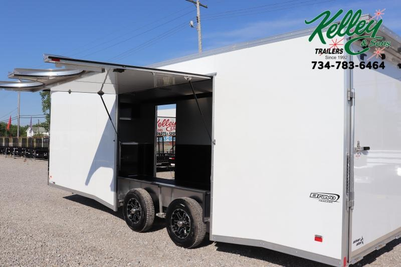 2021 Bravo Trailers 8.5x24 10K Silver Star Aluminum Auto Car / Racing Trailer