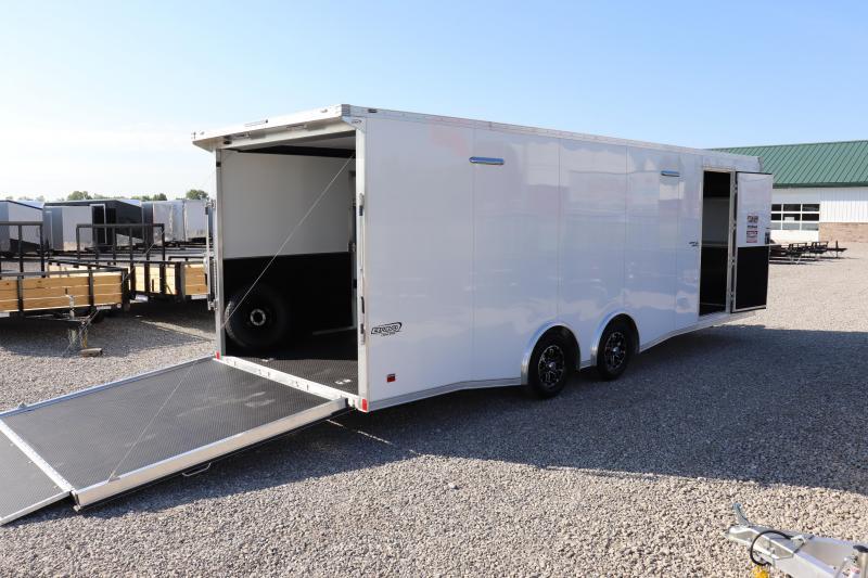 2021 Bravo Trailers 8.5x24 10K Silver Star Aluminum Auto Car / Racing Trailer