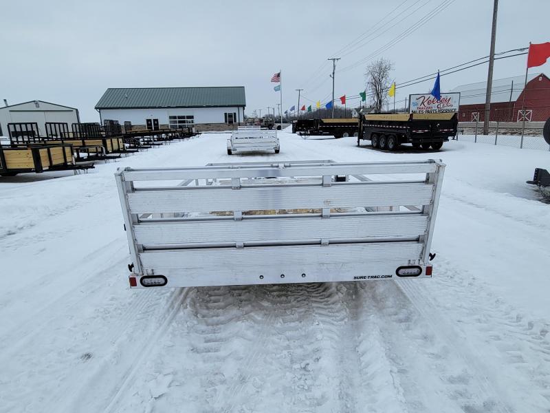 2021 Sure-Trac 7x12 3K Aluminum Tube Top Utility Trailer