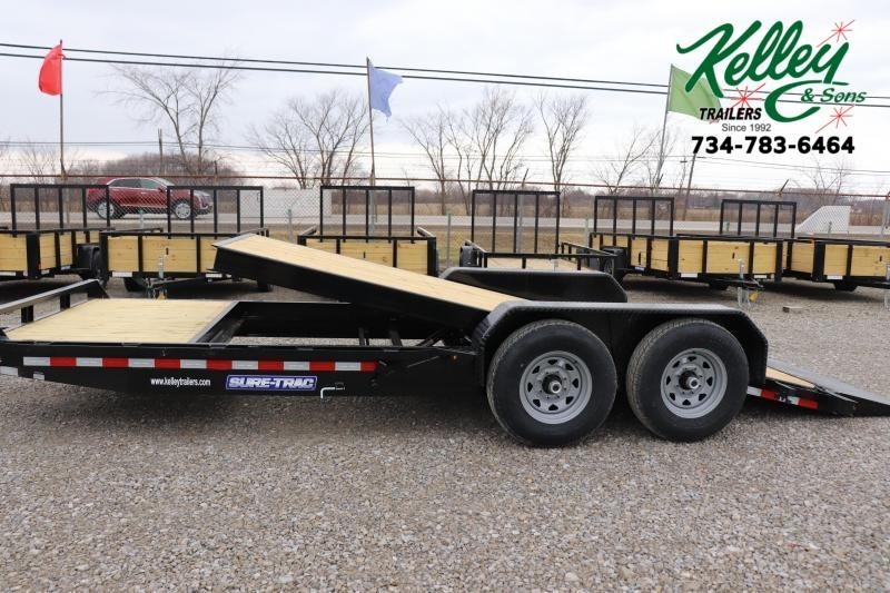 2021 Sure-Trac 7x16+4 14K Tilt Bed Equipment Trailer