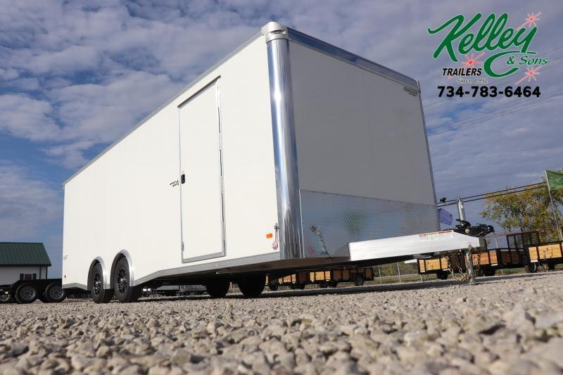 2021 Bravo Trailers 8.5x24 10K Silver Star Aluminum Car / Racing Trailer