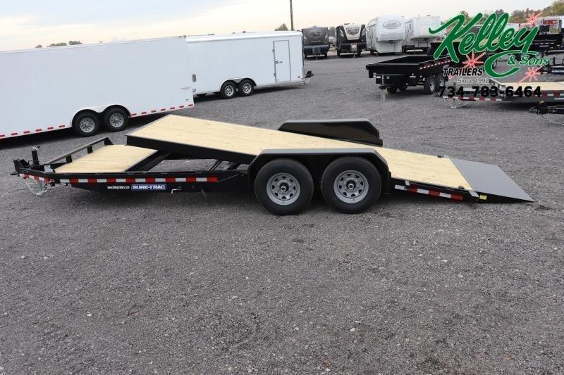 2021 Sure-Trac 7x18+4 14K Tilt Bed Equipment Trailer
