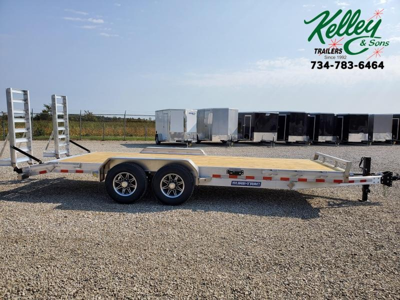 2021 Sure-Trac 7x20 (18+2) 14K Aluminum Equipment Trailer