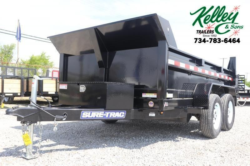 "2021 Sure-Trac 72""x10 7K Single Ram Dump Trailer"