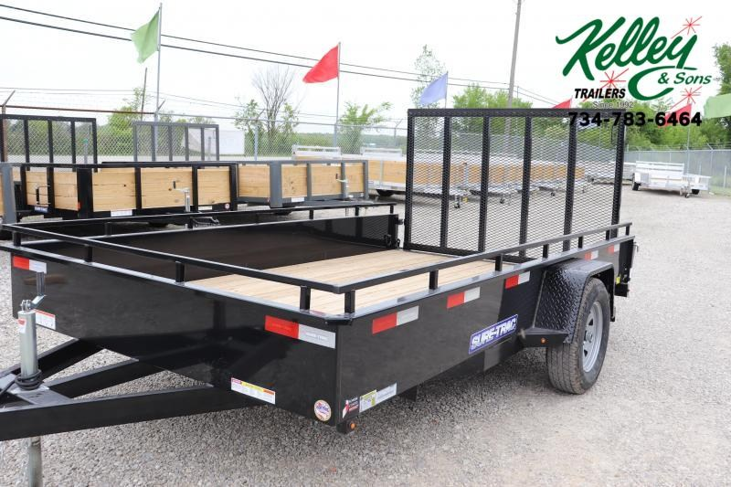 2020 Sure-Trac 7X12 Steel High Side Utility Trailer