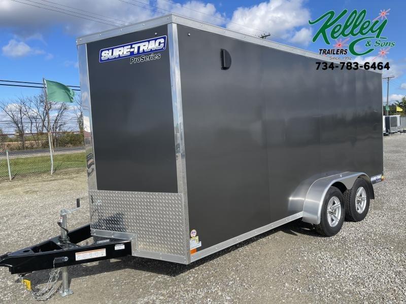 2022 Sure-Trac 7x16 7K Pro Series Wedge Enclosed Cargo Trailer