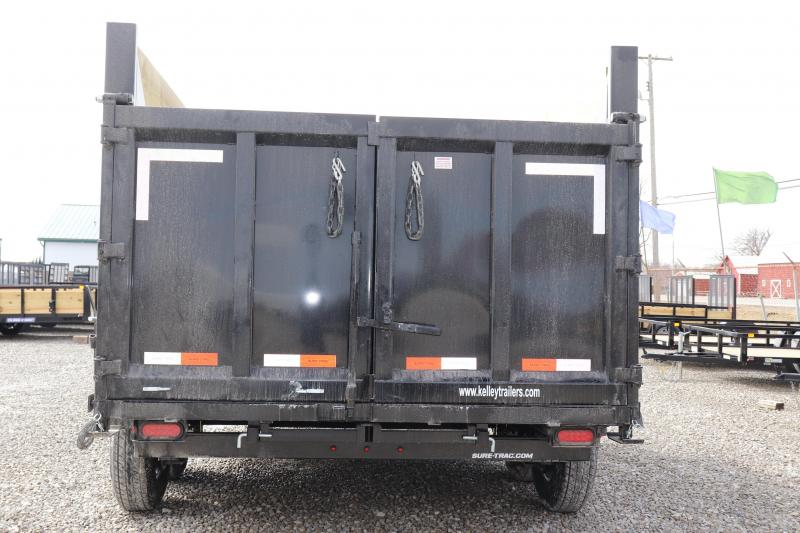 "2021 Sure-Trac 82""x14 14K w/ 4' Sides Telescopic Pro Dump Trailer"