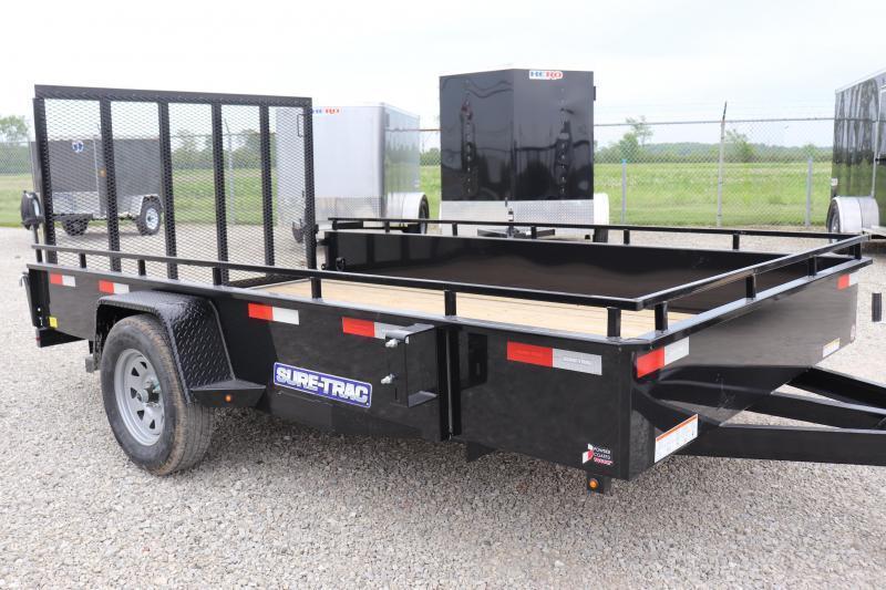 2021 Sure-Trac 7X12 Steel High Side Utility Trailer