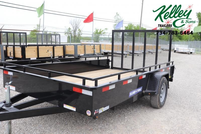 2022 Sure-Trac 7X12 Steel High Side Utility Trailer 3K