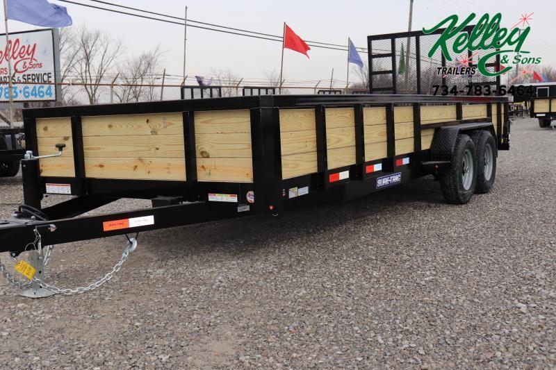2021 Sure-Trac 7x20 10K 3-Board Utility Trailer