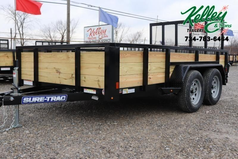 2021 Sure-Trac 7x12 7K 3-Board Utility Trailer