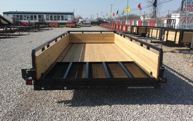 2021 Sure-Trac 7x16 7K 3-Board Utility Trailer