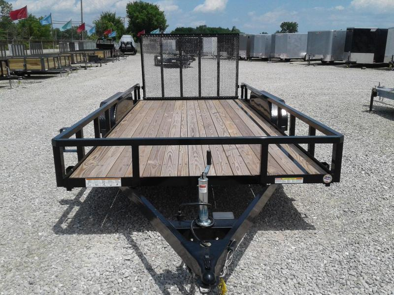 2021 Sure-Trac 7x16 7K Tube Top Utility Trailer