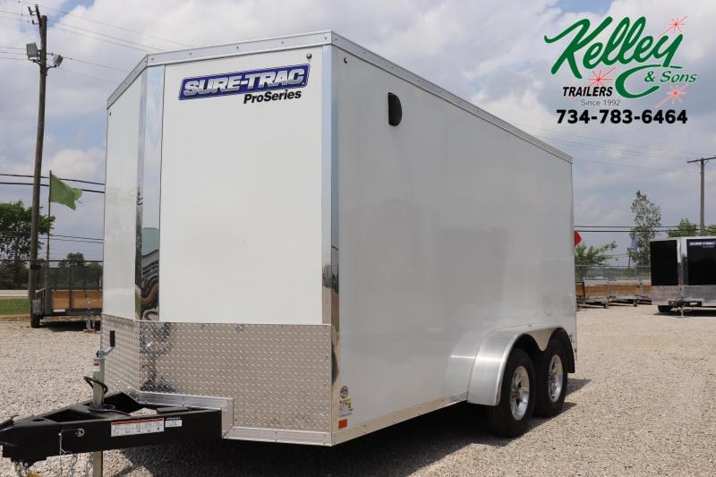 2022 Sure-Trac 7x14 7K Pro Series Wedge Enclosed Cargo Trailer