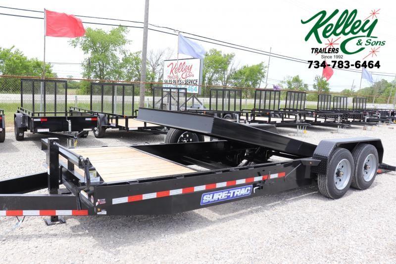 2021 Sure-Trac 7x18+4 16K Tilt Bed Equipment Trailer