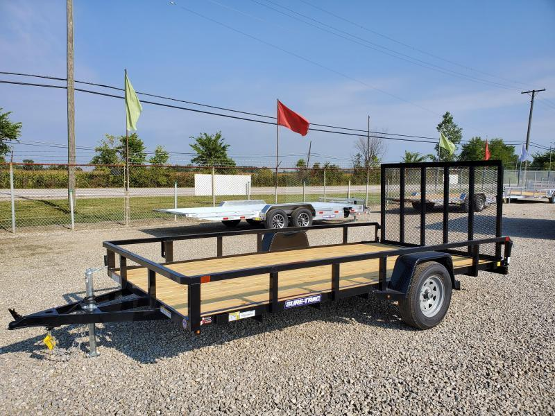 2021 Sure-Trac 7x14 Tube Top Utility Trailer