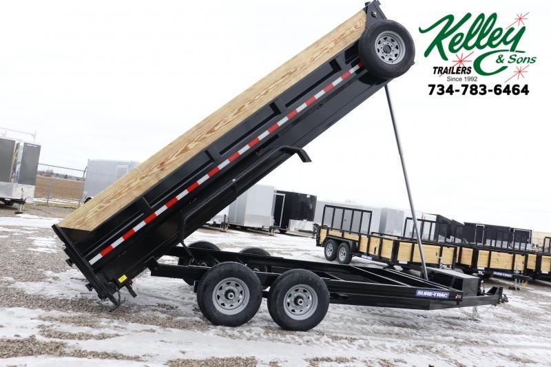 2020 Sure-Trac 82INx16 14K Low Pro Telescopic Pro Dump Trailer
