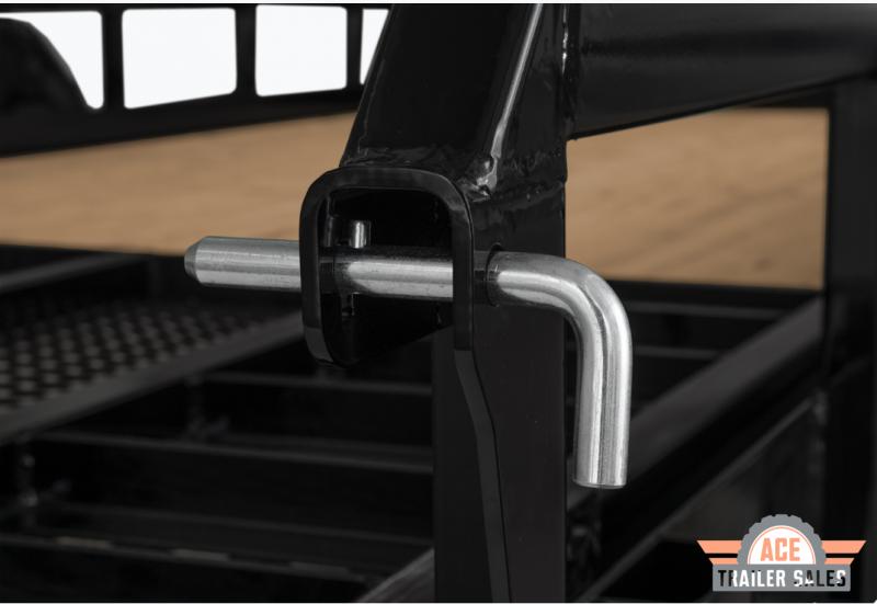 2022 H and H Trailer 82x18 Heavy Rail Side Landscape Trailer 10K Tandem (H8218HTRS-100) Utility Trailer