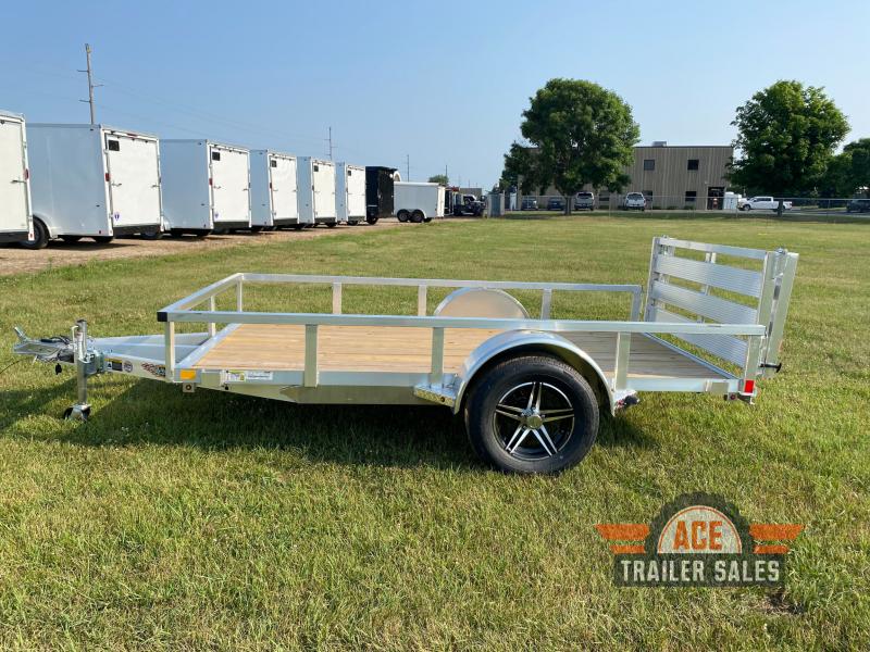 2021 H and H Trailer 66x10 Aluminum Rail Side 3K Idler (H6610RSA-030) Utility Trailer