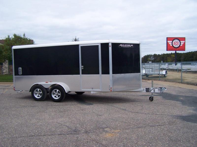 2020 Aluma AE718TAV Snowmobile Trailer