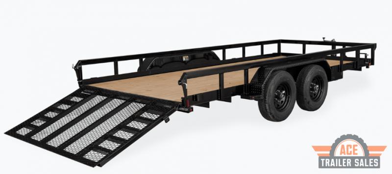 2022 H and H Trailer 82x20 Heavy Rail Side Landscape Trailer 10K Tandem (H8220HTRS-100) Utility Trailer