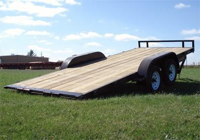 20220 H and H Trailer H8220MX-100 Manual Tilt Bed Car Hauler