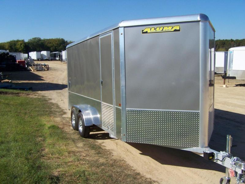 2021 Aluma AE716TAM Enclosed Cargo Trailer - RED