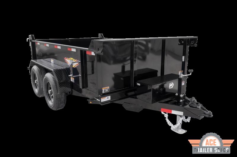 2021 H and H Trailer 76x12 Utility Dump Trailer 10K Single Ram (H7612UD-24-100) Dump Trailer
