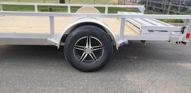 2021 H and H Trailer 76x12 Aluminum Rail Side 3K (H7612RSA-030) Utility Trailer