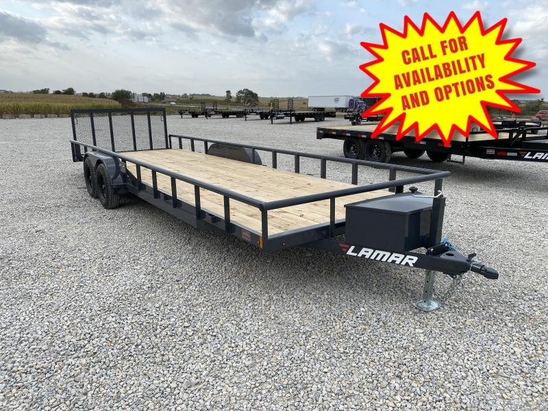 "New Lamar 83""x24' UTV / ATV / Lawn Mower Trailer"
