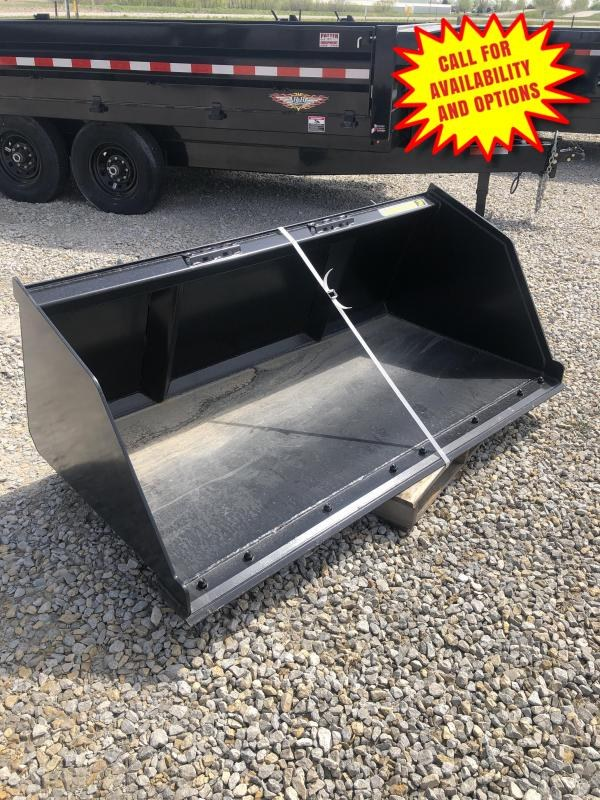 "New 72"" Snow And Litter Bucket W / Bolt ON Edge"