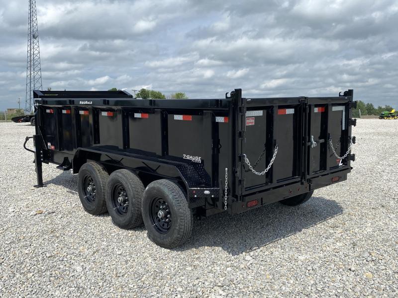 New 16' Gooseneck Dump 21000# W / 3' Sides