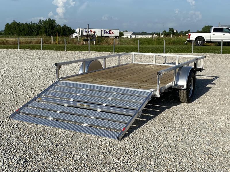 """New H And H Aluminum 82""""x12' W/ Bi-Fold Gate"""