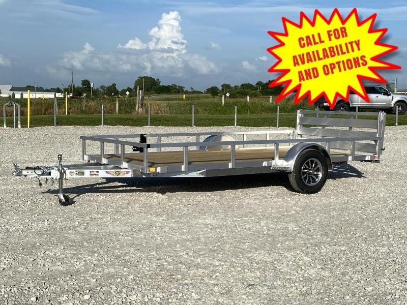 """New H And H Aluminum 82""""x14' W/ Bi-Fold Gate"""