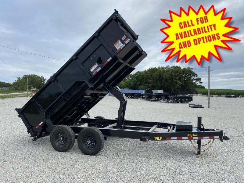 New Big Tex 14' Dump W / 3' Sides 14000# GVWR